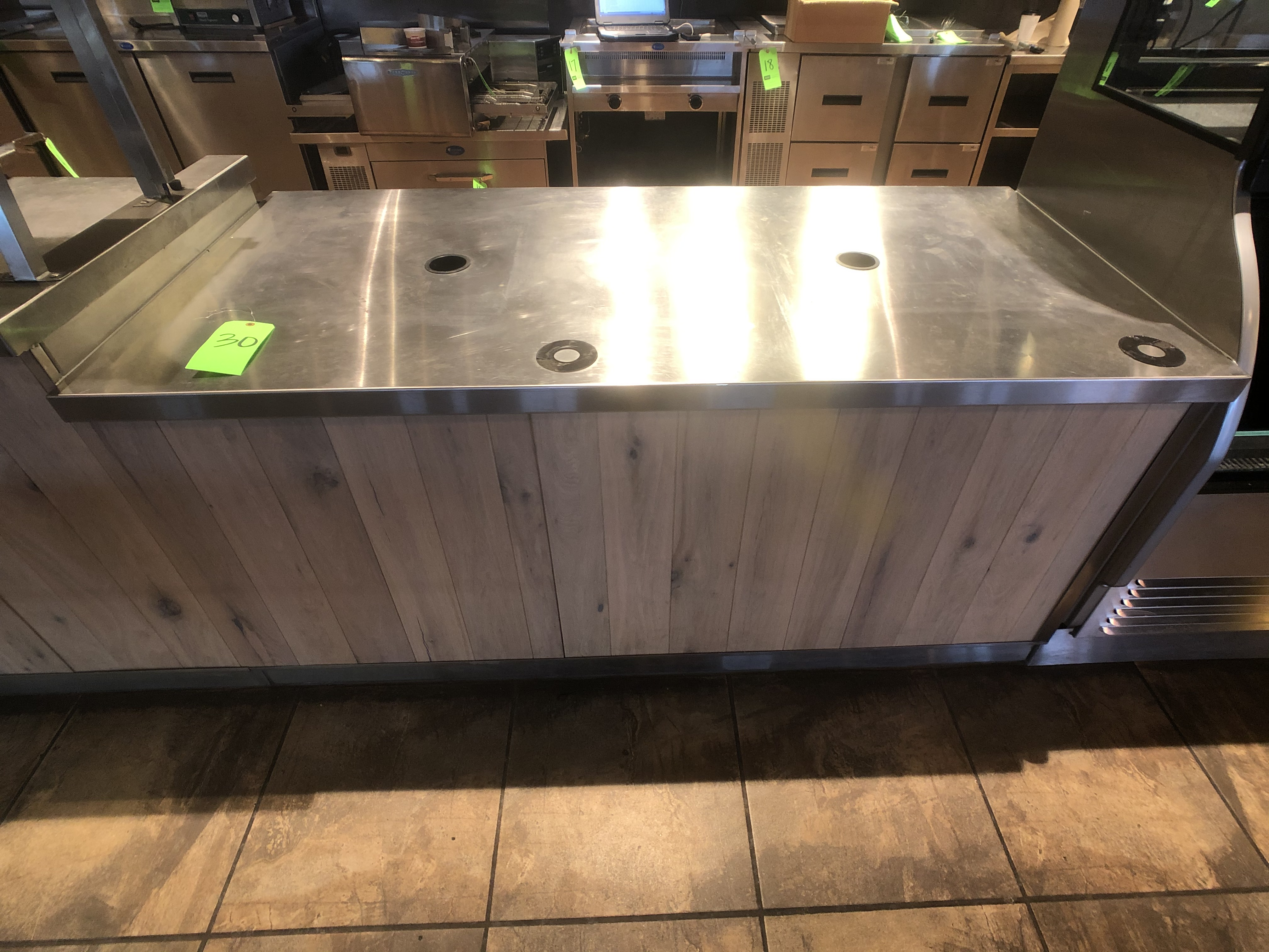 "Approx. 6' W x 34"" W S/S Countertop Register Station with S/S Shelves (NOTE: Does Not Include Cash - Image 2 of 6"