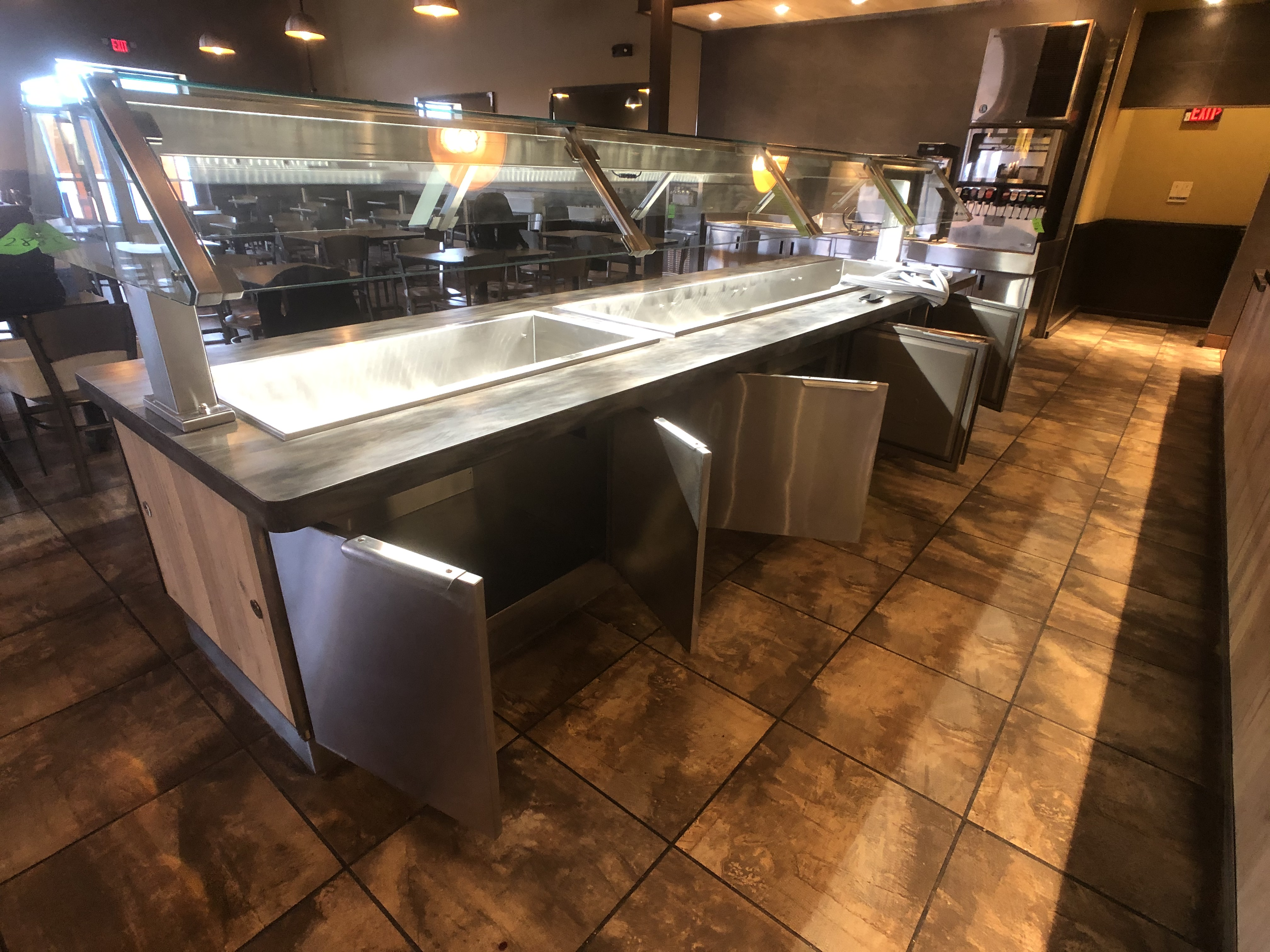 Randell Approx. 15' L x 4' W Refrigerated Buffet Table with Overhead Light, Work-Top Refrigerator - Image 2 of 6