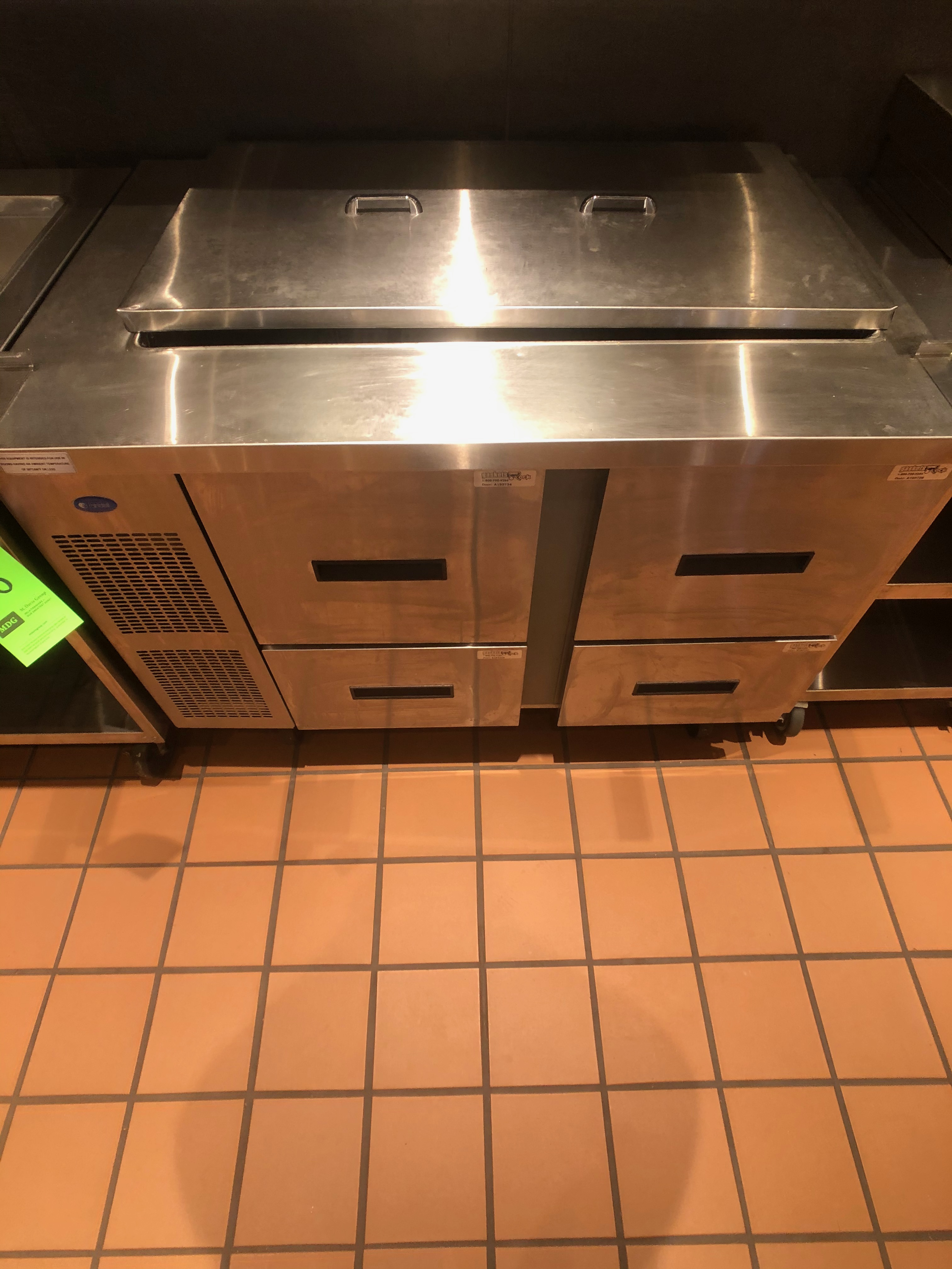 "Randell Refrigerator / Sandwich Prep Table, Model 9030K-7, S/N W953299-1, 48"" W x 33"" D36"" H - Image 2 of 5"