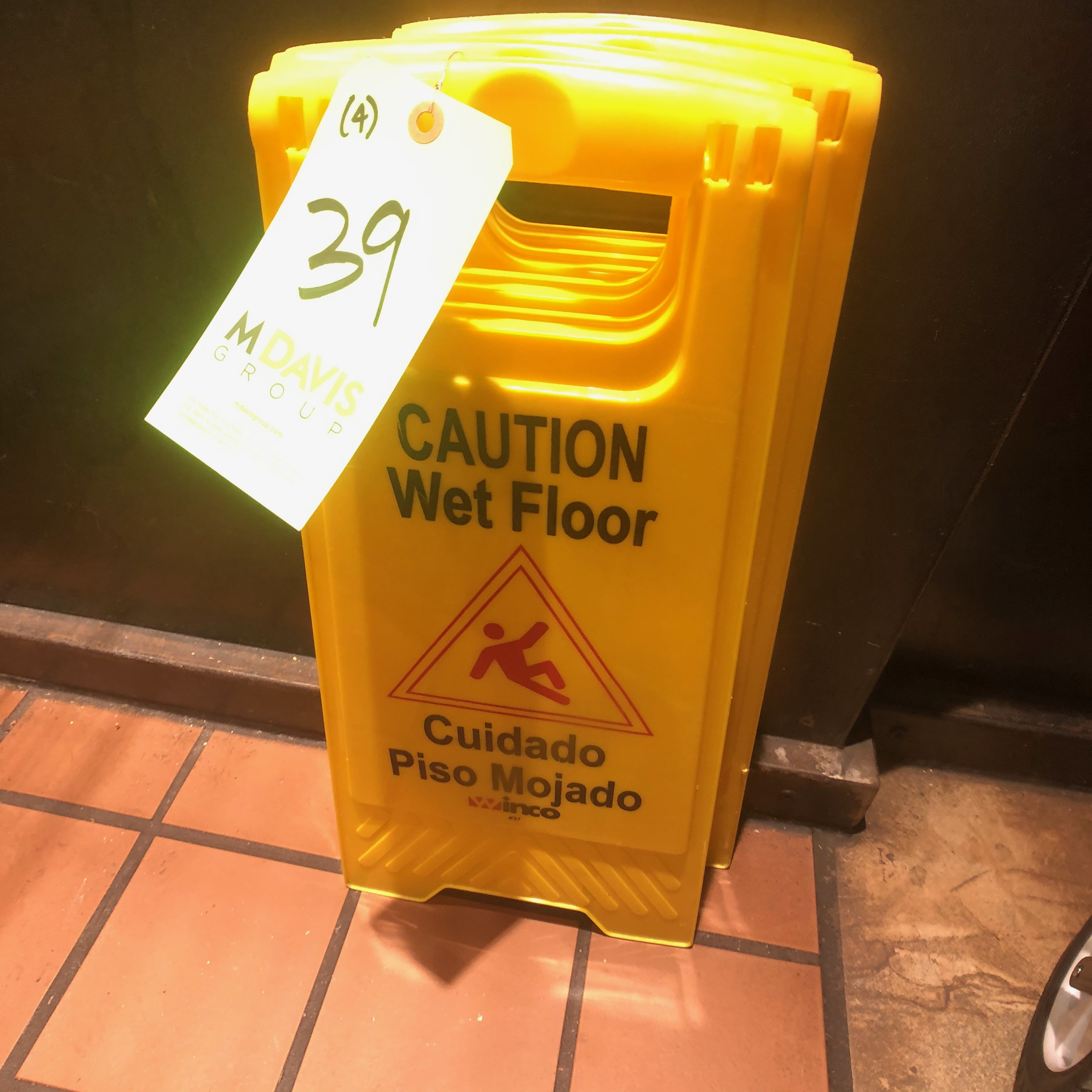 (4) Winco Yellow Caution Wet Floor Signs - Image 2 of 3