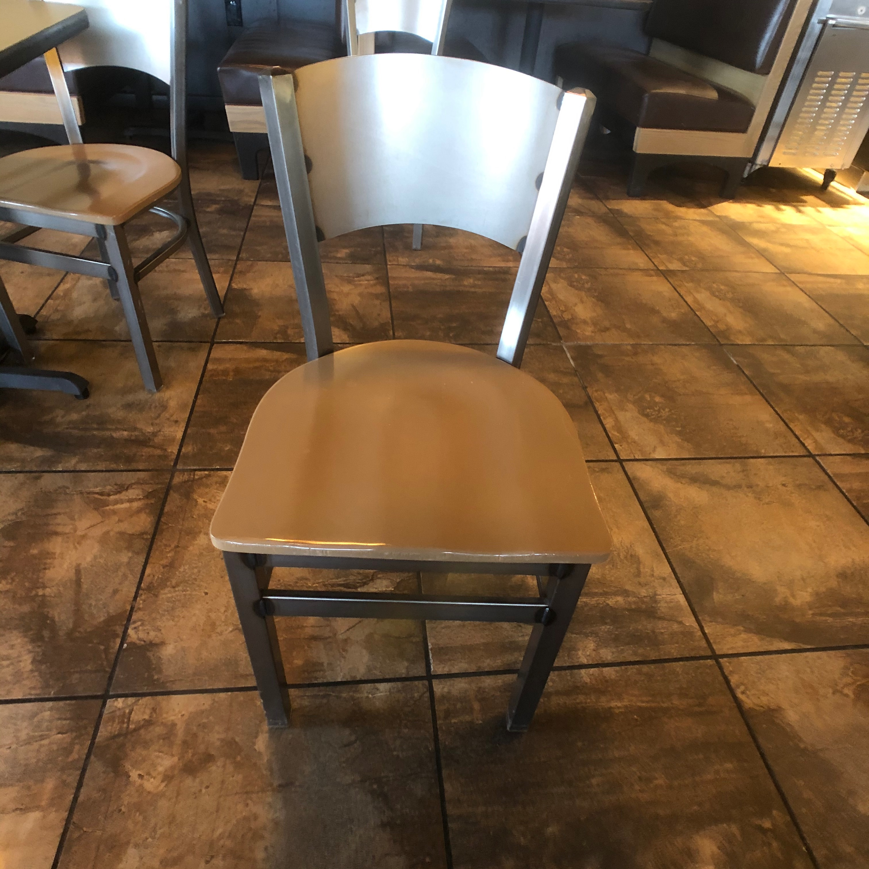 "(6) 4-Person Tables with (24) Walsh Simmons Seating Chairs, Approx. 44"" L x 28"" W - Image 4 of 5"