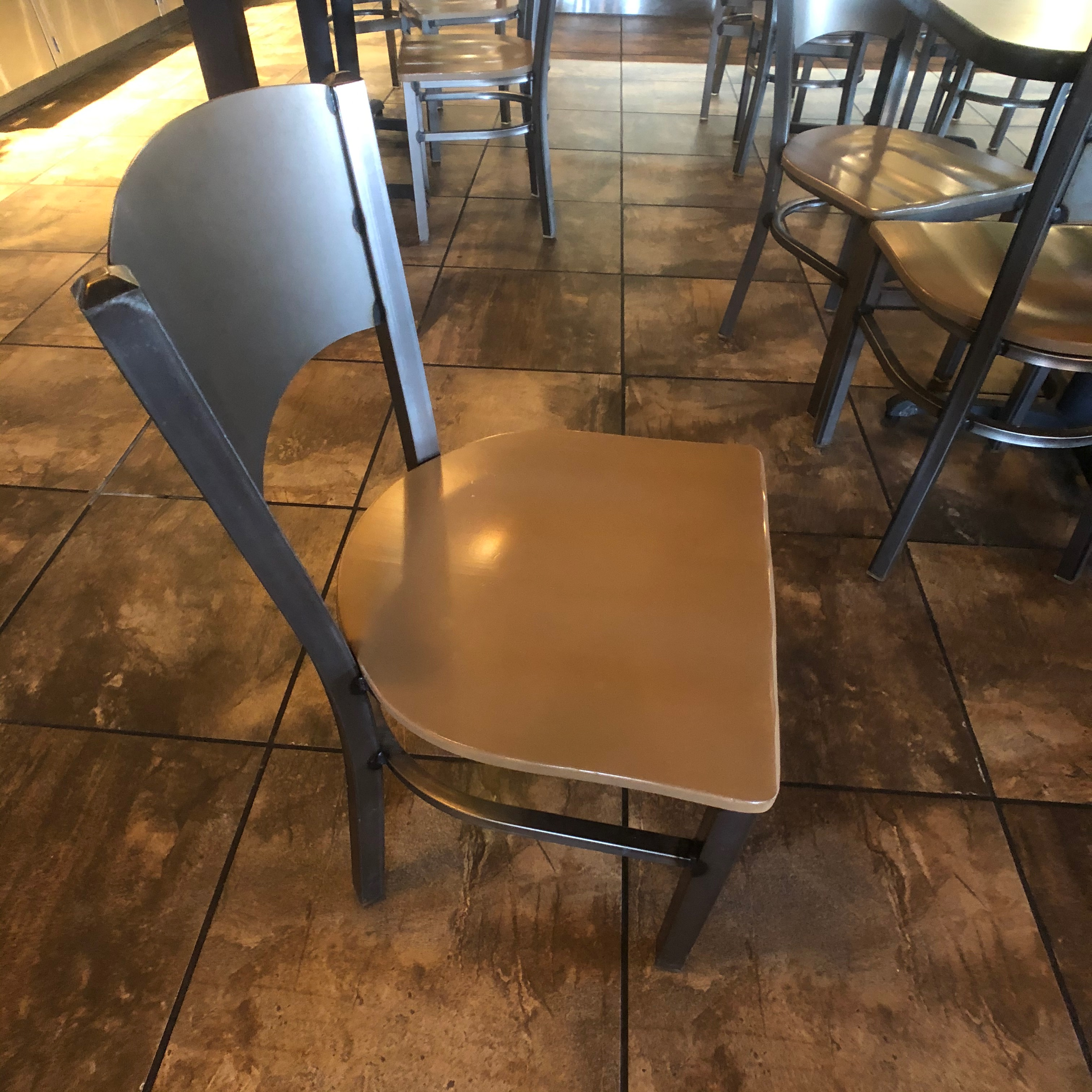 "(6) 4-Person Tables with (24) Walsh Simmons Seating Chairs, Approx. 44"" L x 28"" W - Image 5 of 5"