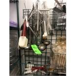 Assorted S/S Whisks, S/S Laddels, S/S Tongs, Spatulas
