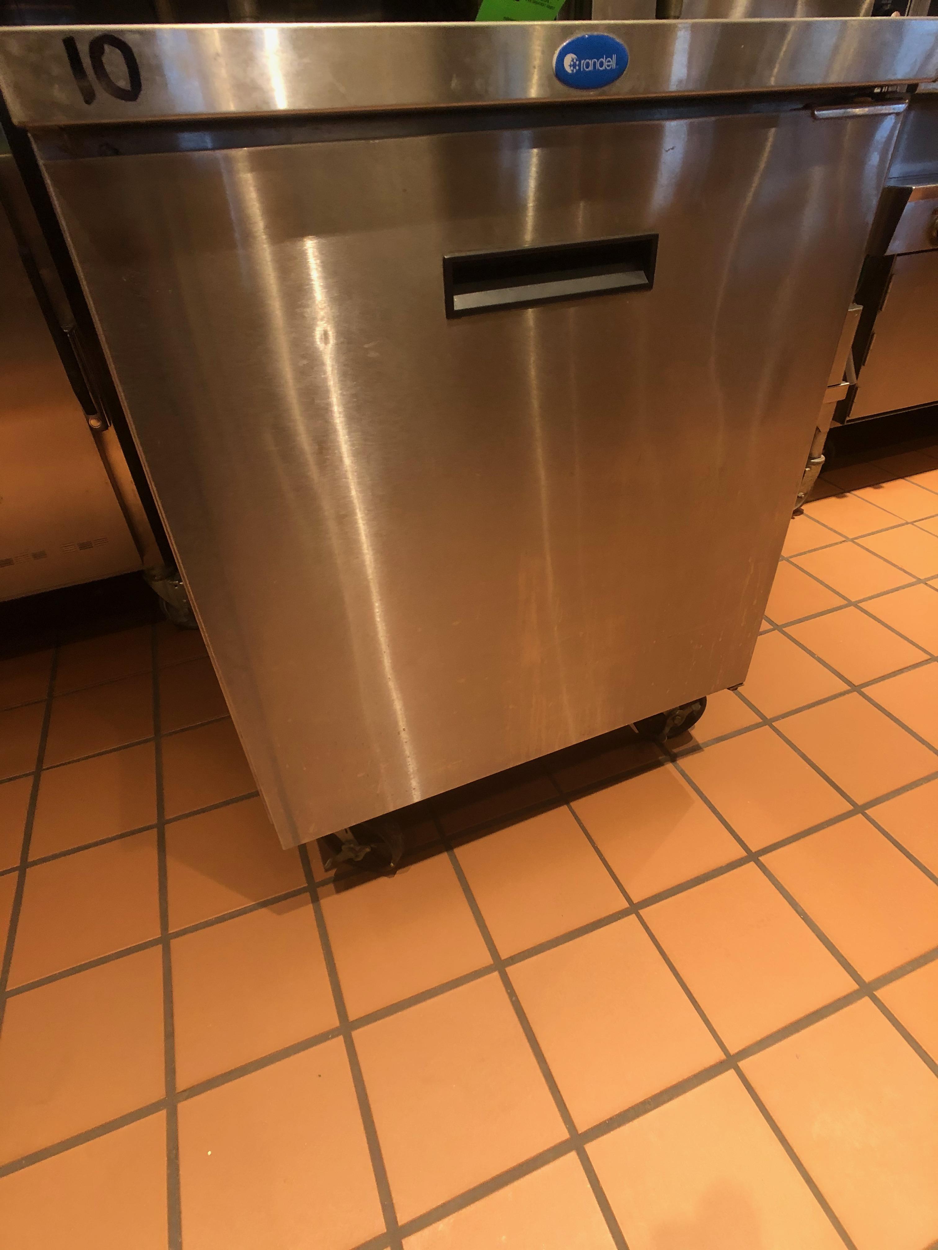 "Randell Single Door Worktop Refrigerator, Model 9402-7, S/N W1041751-1, 27"" W x 30"" D x 36"" H"