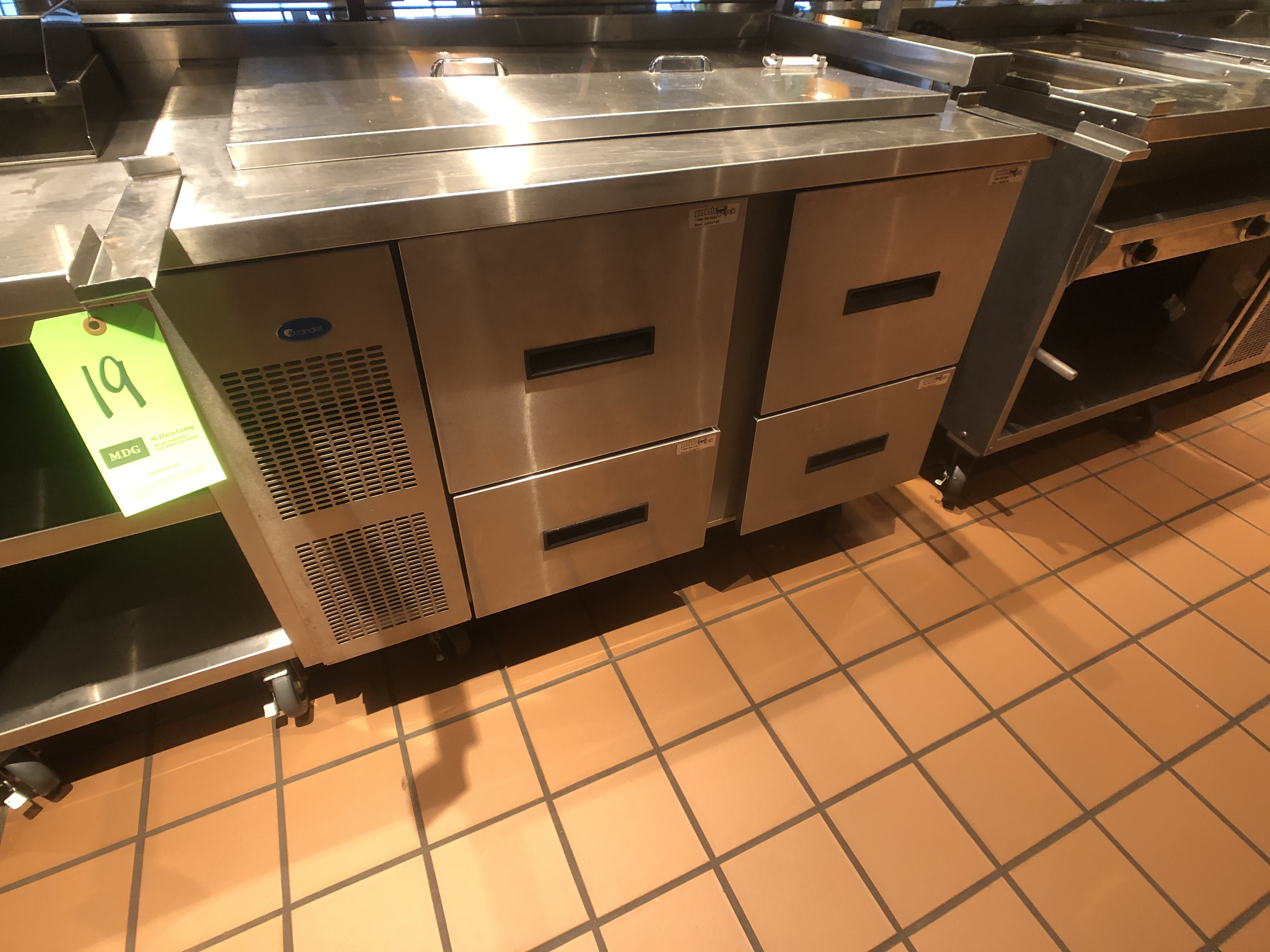 "Randell Refrigerator / Sandwich Prep Table, Model 9030K-7, S/N W1035669-1, 48"" W x 33"" D36"" H - Image 2 of 5"