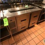 "Randell Refrigerator / Sandwich Prep Table, Model 9030K-7, S/N W953300-11, 48"" W x 33"" D36"" H"