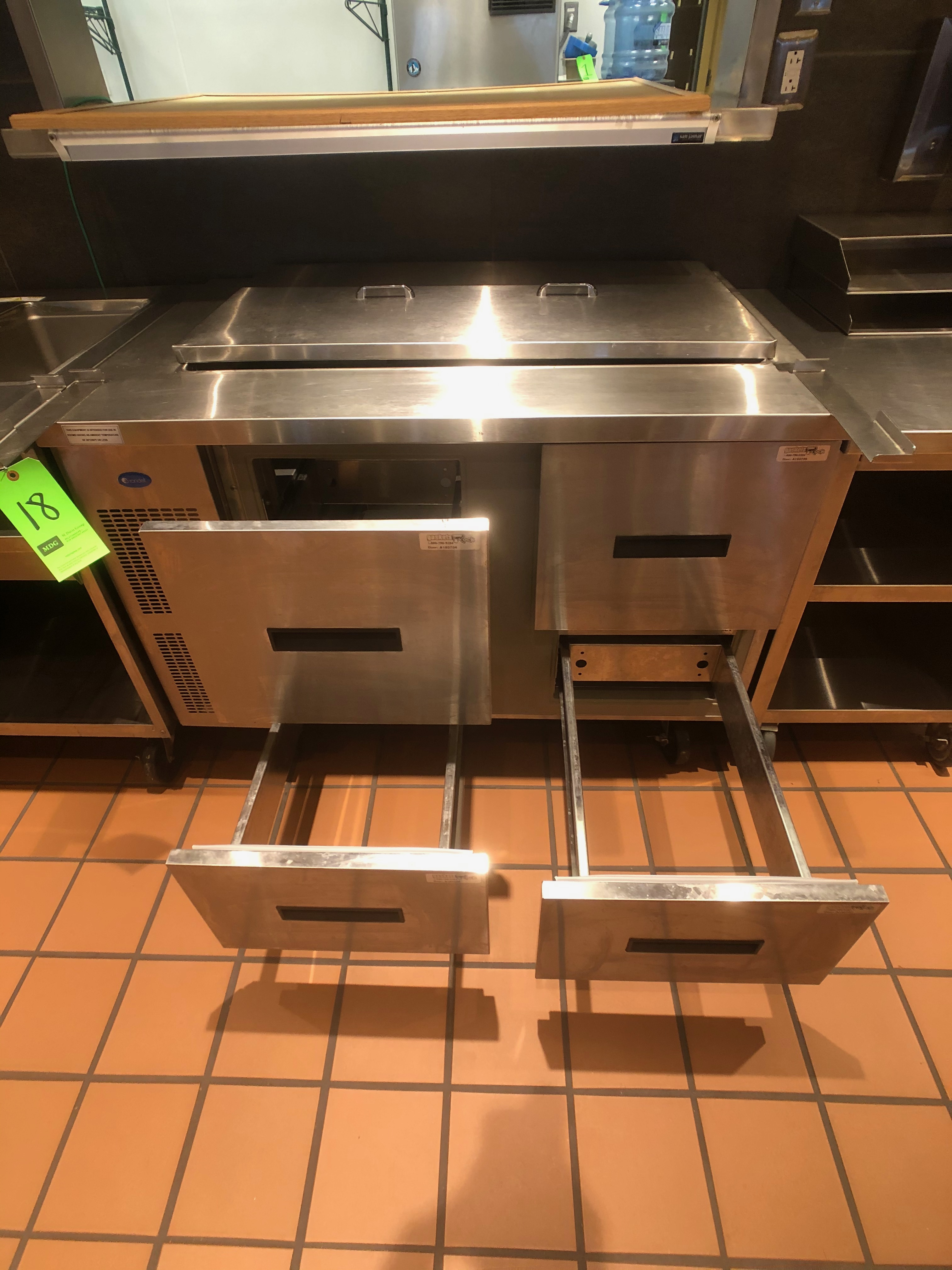 "Randell Refrigerator / Sandwich Prep Table, Model 9030K-7, S/N W953299-1, 48"" W x 33"" D36"" H - Image 3 of 5"