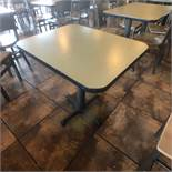 """(5) 2-Person Tables with (10) Walsh Simmons Seating Chairs, Approx. 2'6"""" L x 24"""" W"""
