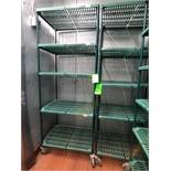 """(10) Portable Racks, 84"""" H, Mounted on Casters (Note: Located in Modular Cooler)"""