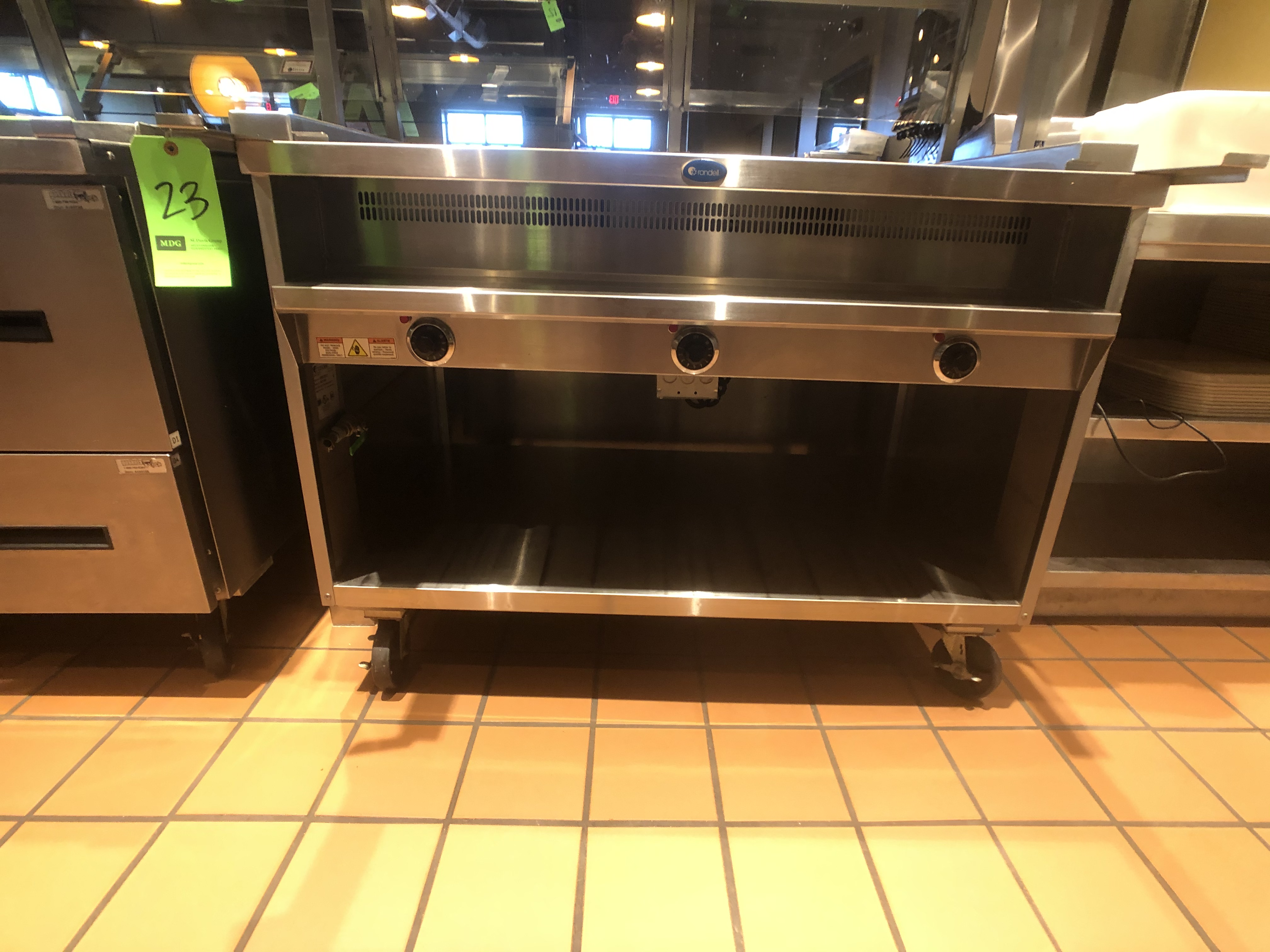 """Randell Open Base Electric Hot Food Table, Model 3613-240, S/N W1041760-1, 48"""" W x 33"""" D x 36"""" H - Image 3 of 4"""