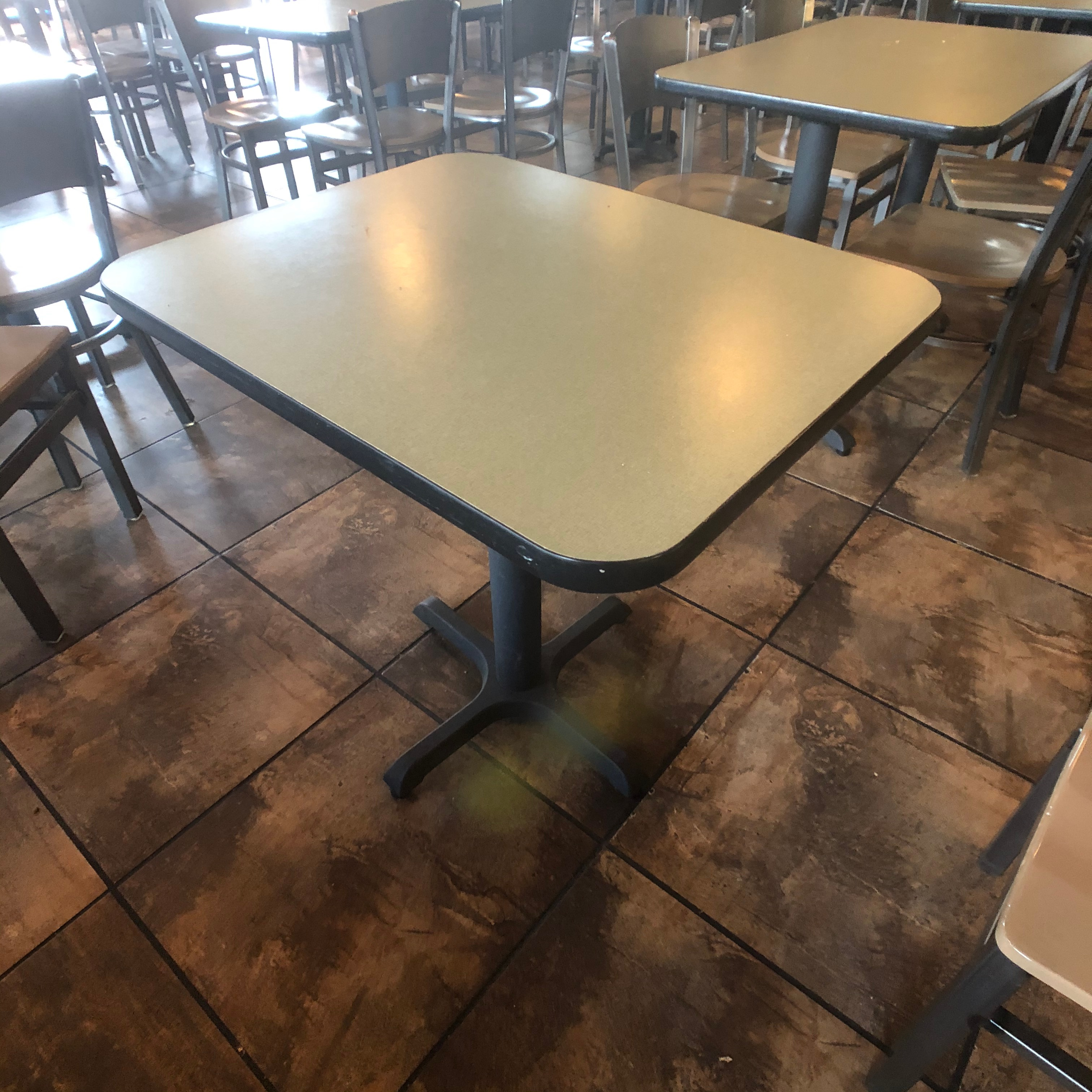 "(10) 2-Person Tables with (20) Walsh Simmons Seating Chairs, Approx. 2'6"" L x 24"" W"