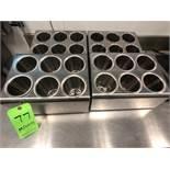 (4) S/S Utensil Dispensers, (6) Sections Each