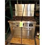 """Sunfire 36"""" W S/S Commercial Natural Gas Oven with 6 - Burners"""