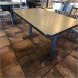 """(6) 4-Person Tables with (24) Walsh Simmons Seating Chairs, Approx. 44"""" L x 28"""" W"""