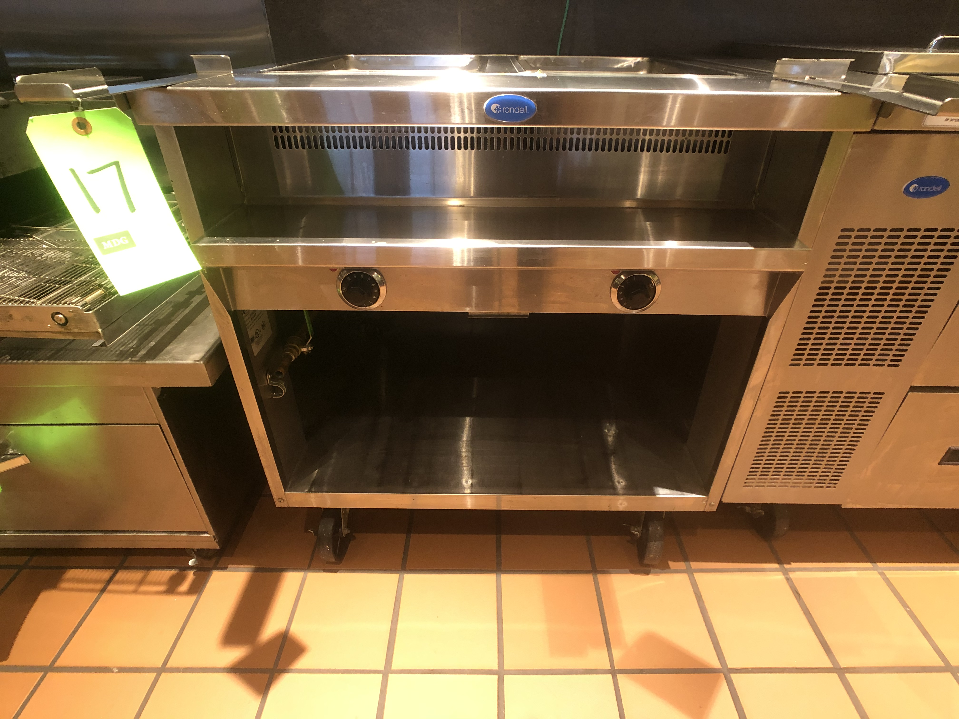 Randell Open Base Electric Hot Food Table, Model 3612-208, S/N W1041763-1, (2) Pan - Image 2 of 6