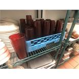 20 oz Plastic Cups (Approx. 25)(Note: Includes Blue Dish Rack)