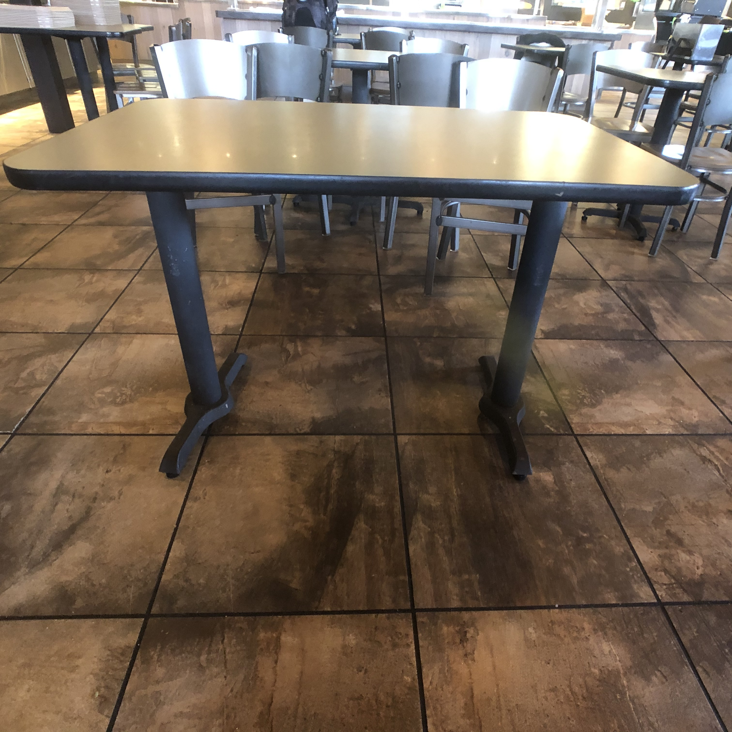 "(6) 4-Person Tables with (24) Walsh Simmons Seating Chairs, Approx. 44"" L x 28"" W - Image 3 of 5"