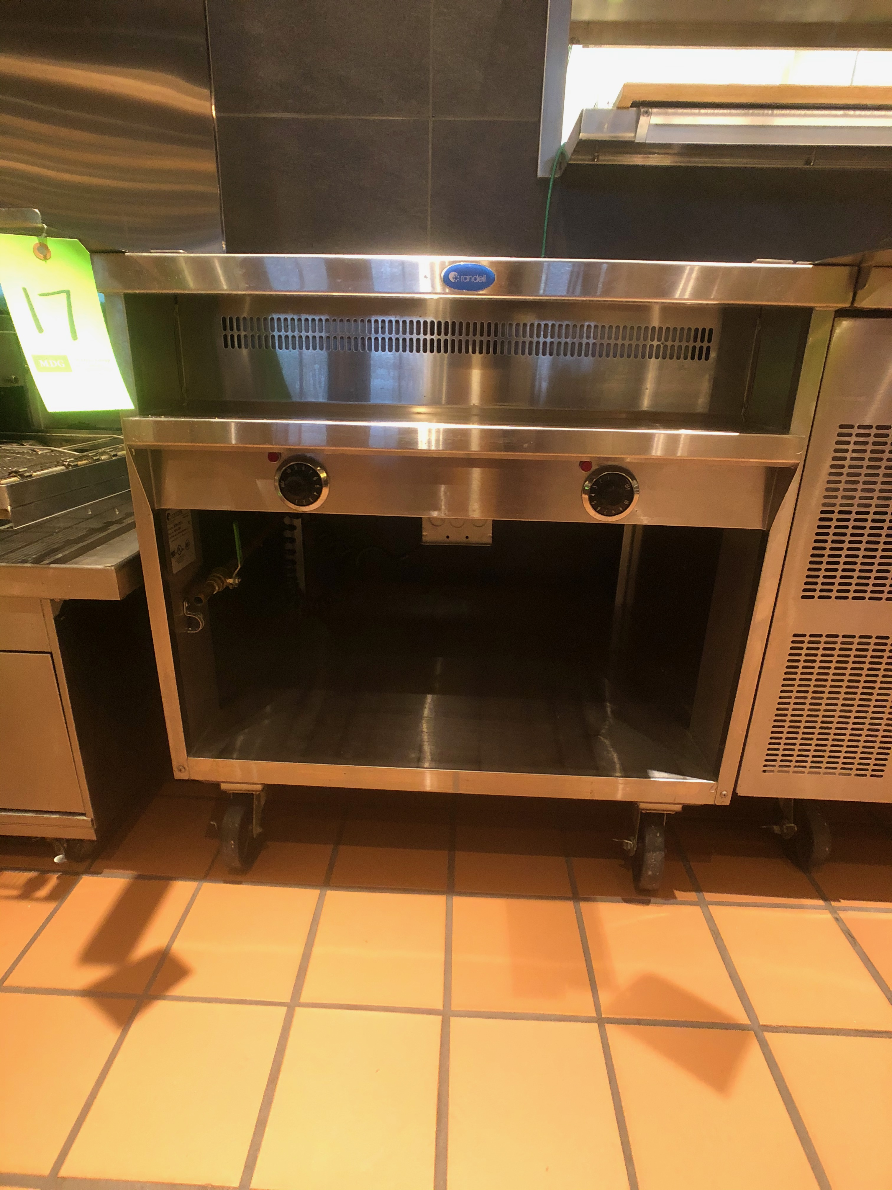 Randell Open Base Electric Hot Food Table, Model 3612-208, S/N W1041763-1, (2) Pan - Image 3 of 6