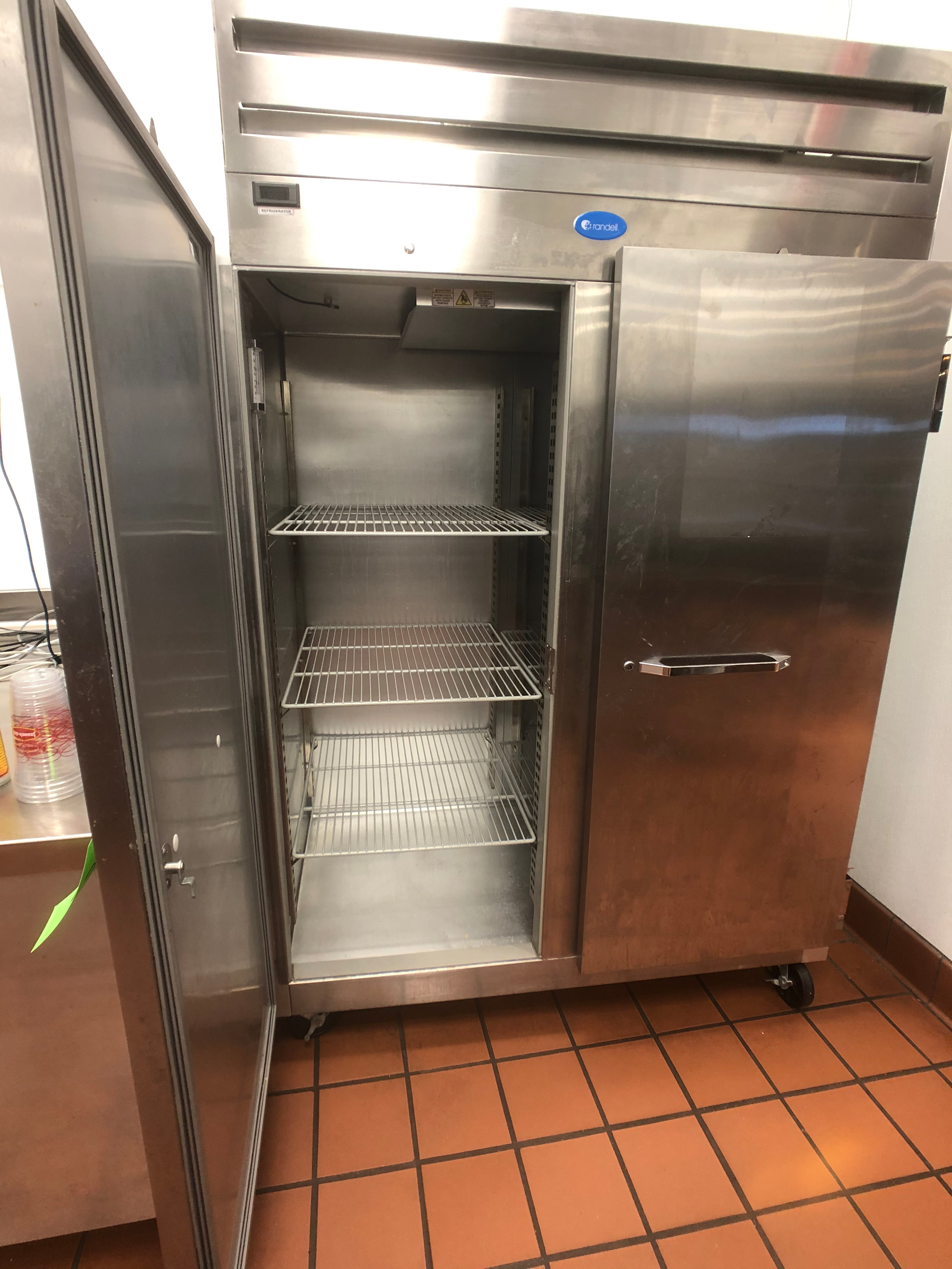 Randell 46 CuFt Reach-In S/S Refrigerator, Model 2020, S/N W858501-1, 2-Door, Mounted on Casters - Image 2 of 4