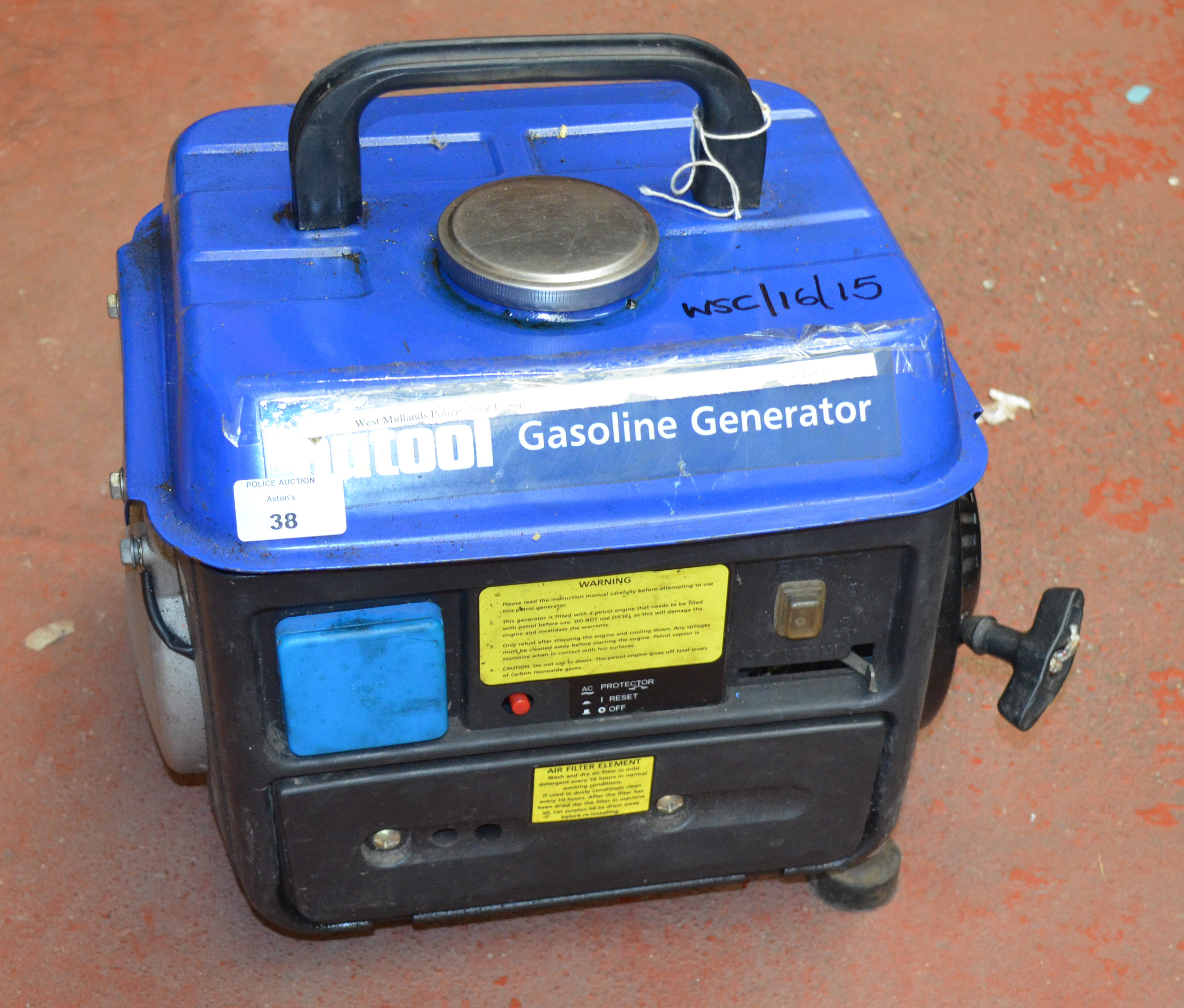 Police nutool gasoline generator no reserve vat on for Generatore nutool