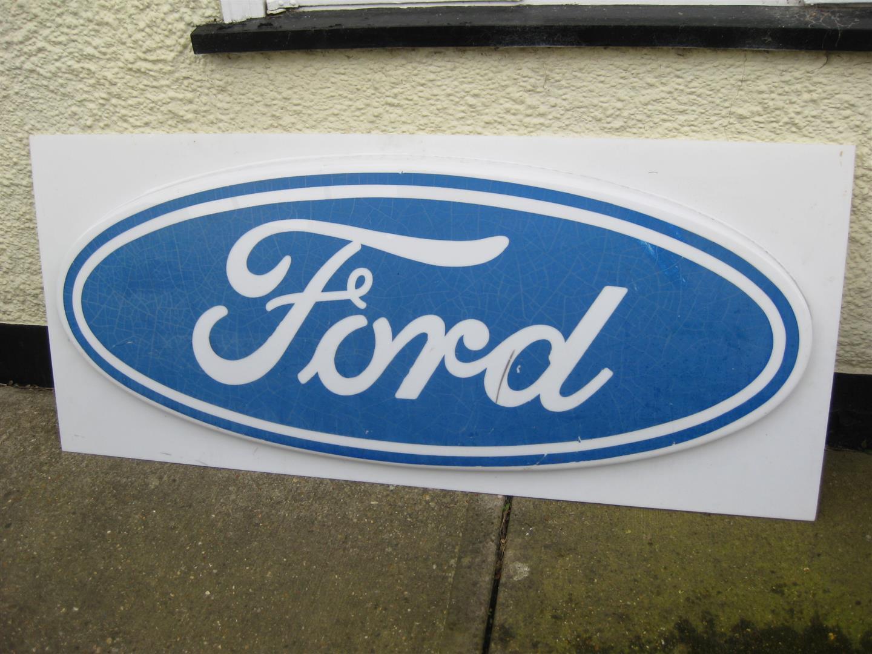 Vintage ford garage sign perspex 170cm wide x 76cm high for Garage ford denney 90