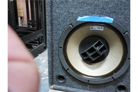 Altec Model M-604-HPLN (Black) Speaker Enclosure in Cabinet