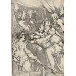 Bellange, Jacques: Die Hl. Familie mit der hl. Katharina, Johannes dem Täufer und einem Engel</b