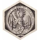 Beham, Hans Sebald: Wappen mit schreitendem Löwen.