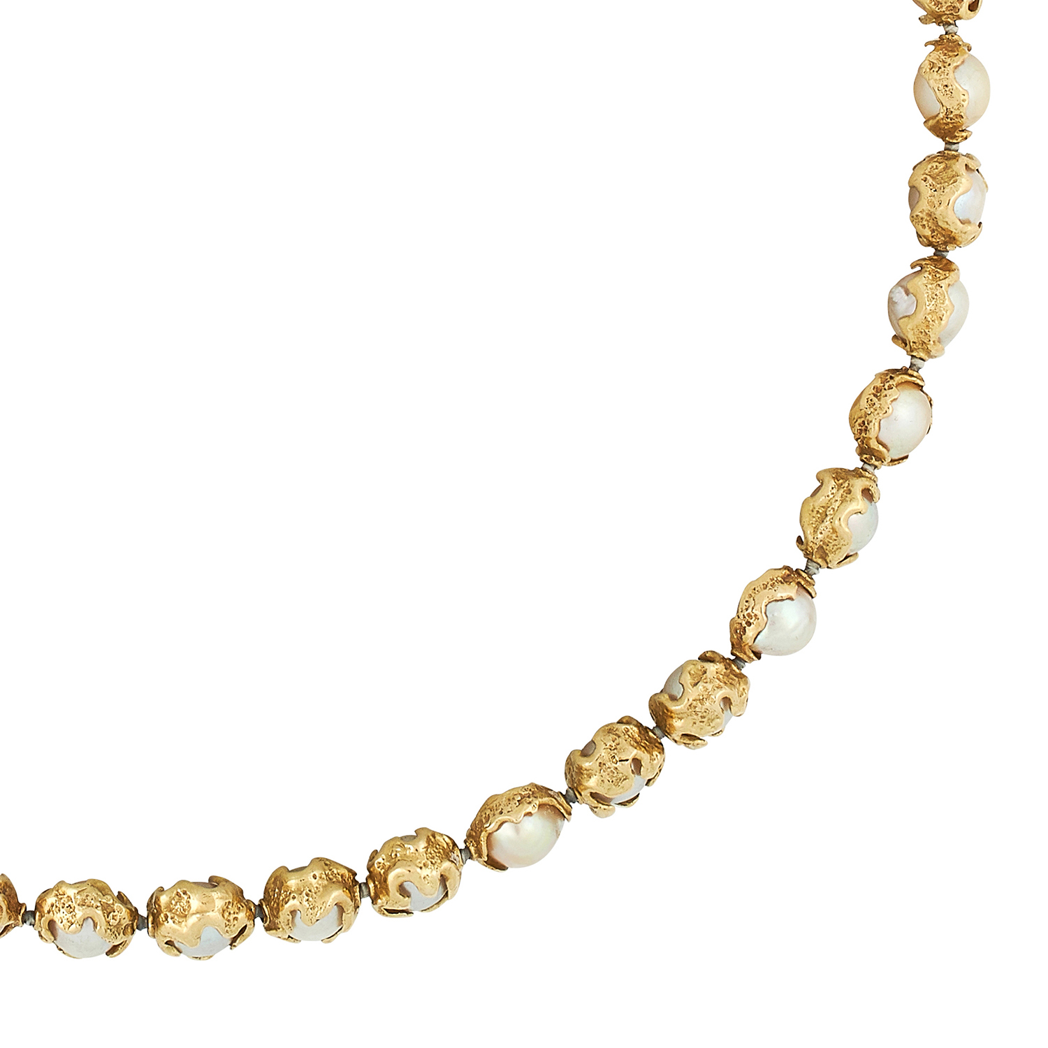 A CULTURED PEARL NECKLACE, CHARLES DE TEMPLE 1978 formed of a single row of pearls of 7.5-8.5mm in - Image 2 of 2