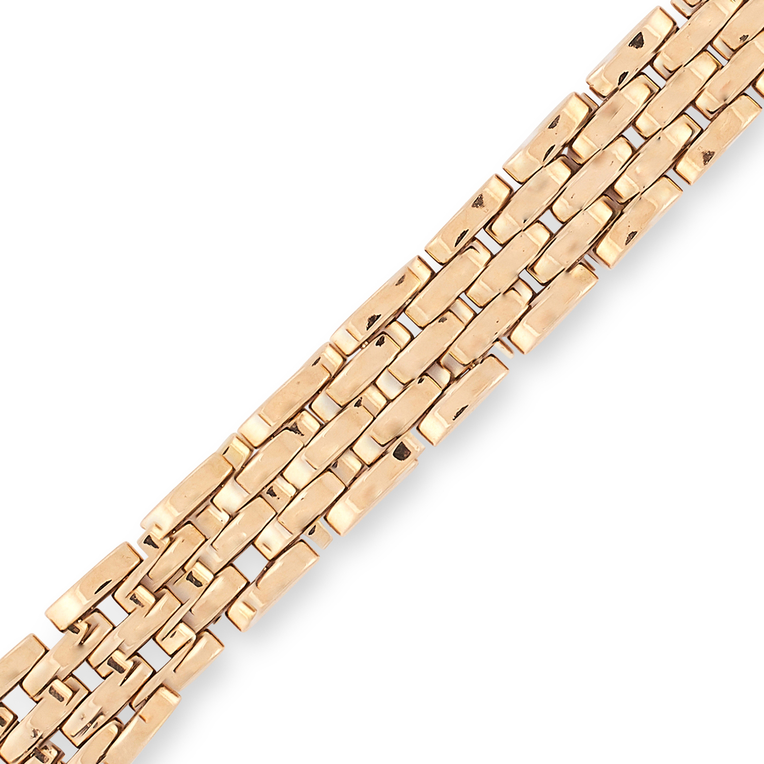 A MAILLON PANTHERE BRACELET, CARTIER designed as a five rows of chain links, signed Cartier and - Image 2 of 2