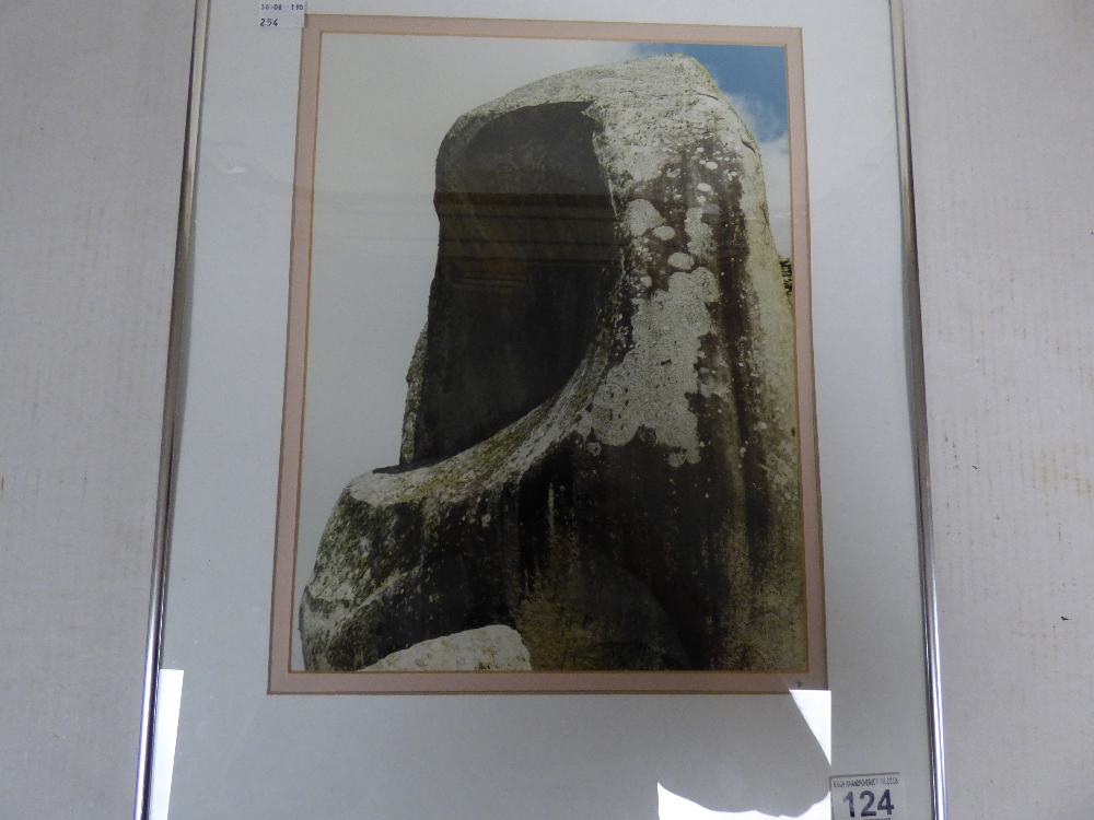 """Lot 124 - """"FACELESS STONE"""" PHOTOGRAPH OF A LARGE STONE, FRAMED AND GLAZED, 50.5CM BY 41CM"""