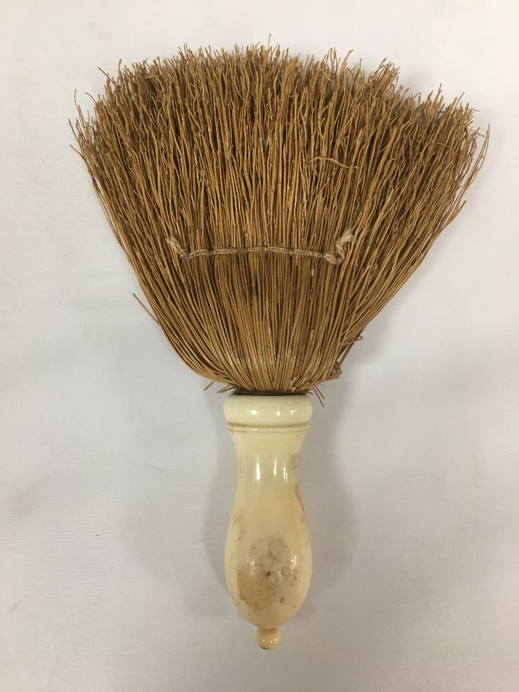 Lot 190 - TWO LATE 19TH/EARLY 20TH IVORY HANDLED BRUSHES