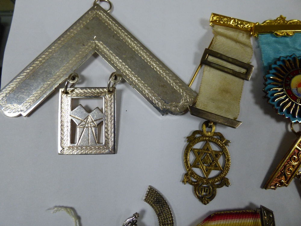 Lot 202A - GROUP OF VINTAGE MASONIC JEWELS FROM THE 1980'S AND 90'S