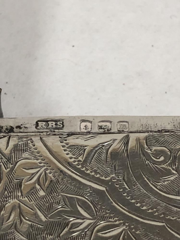 Lot 206 - A SILVER VESTA CASE WITH ENGRAVED FOLIATE DECORATION THROUGHOUT, HALLMARKED BIRMINGHAM 1911 BY