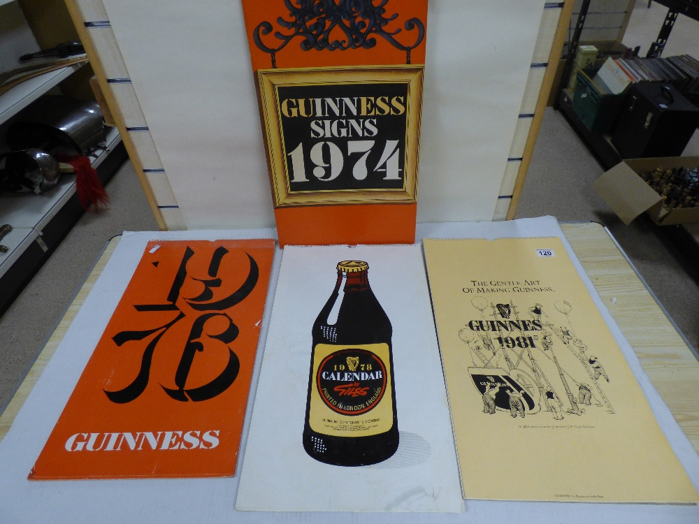 Lot 120 - FOUR VINTAGE GUINNESS CALENDARS; 1974, 1976, 1978 AND 1981