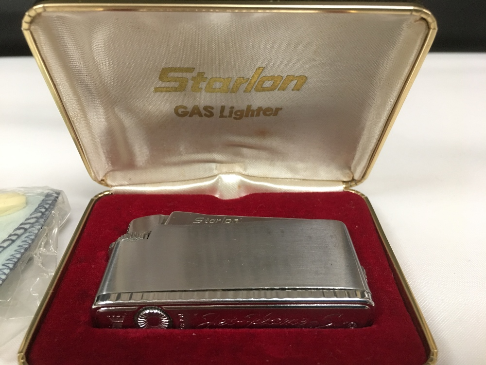 Lot 157 - A STARLON JET FLAME-S LIGHTER IN ORIGINAL CASE, PAT 3044504, TOGETHER WITH A COLIBRI MOLECTRIC