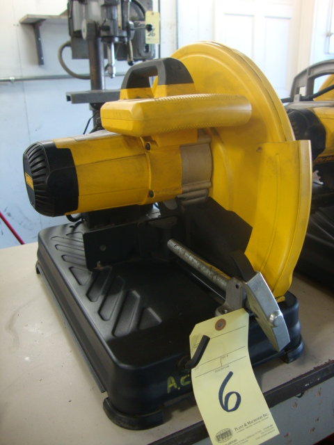 Lot 6 - BENCH TYPE ABRASIVE CUT-OFF SAW, DEWALT 14""