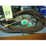BRAZING TORCH, w/hose & gauge