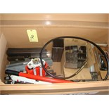 HYDRAULIC POWER SUPPLY UNIT, SPX POWERTEAM, hand pump, various jacks & accessories