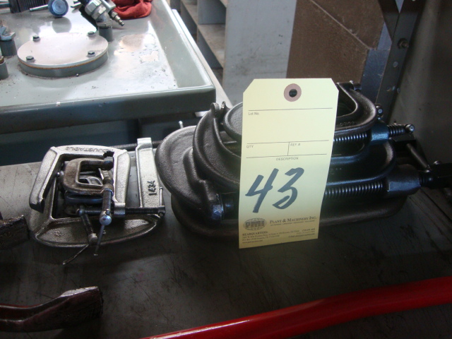 Lot 43 - LOT OF C-CLAMPS, assorted
