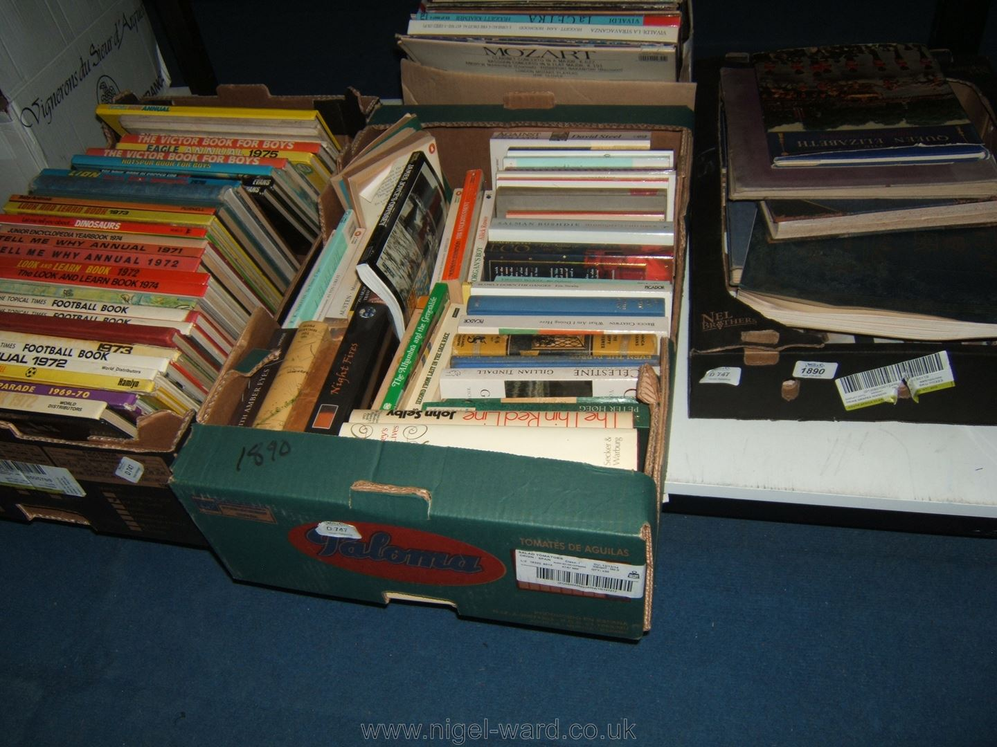 3 boxes of books football and other annuals novels coffee table lot 1890 3 boxes of books football and other annuals novels coffee table geotapseo Gallery