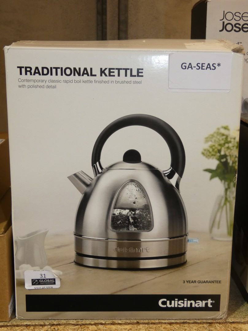 Lot 31 - Boxed Cuisinart Stainless Steel 1.5L Rapid Boil Dome Kettle RRP £60