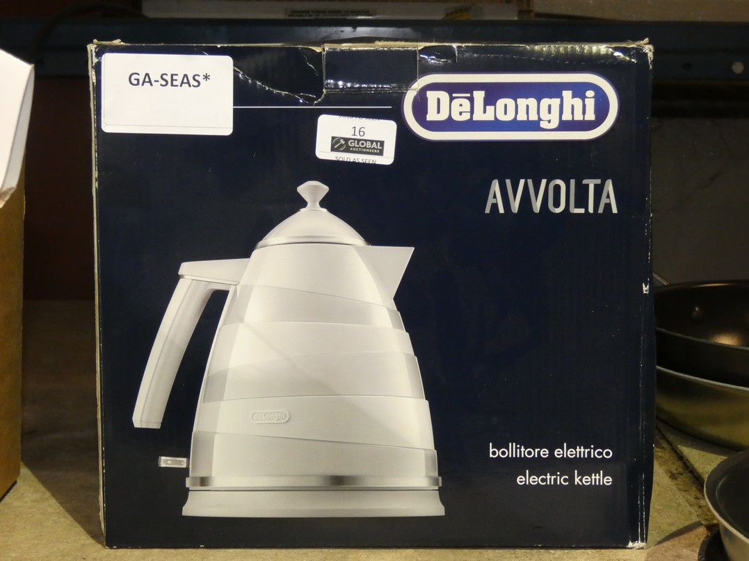 Lot 16 - Boxed Delonghi Avolta Electric Kettle RRP £75