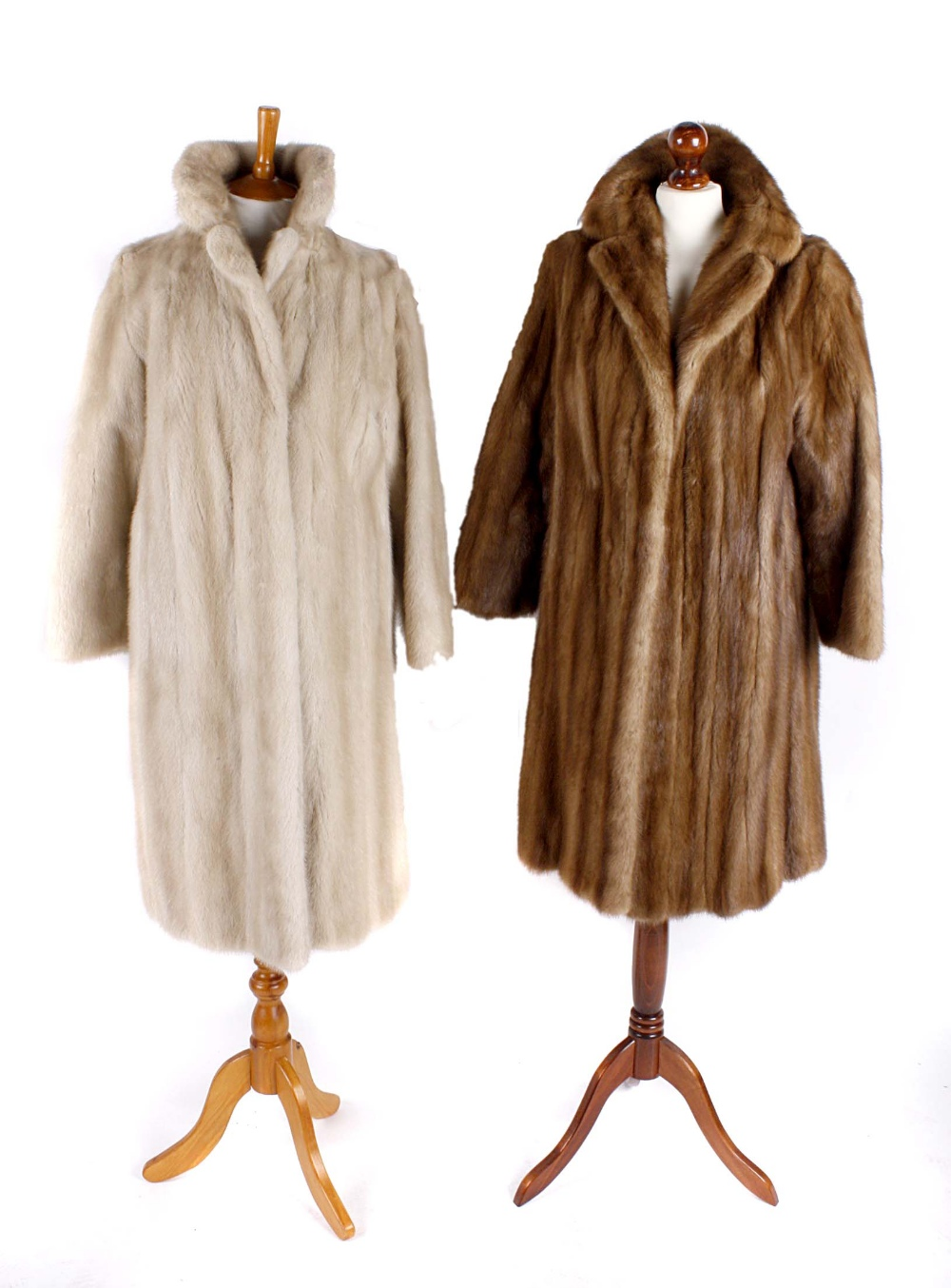 A 1960s champagne mink coat together with a Rackhams of
