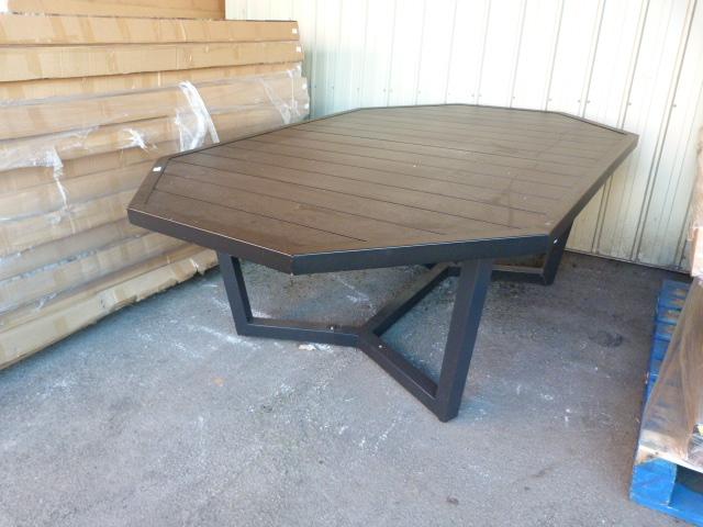 Lot 43 - *Octagonal Metal Garden Dining Table