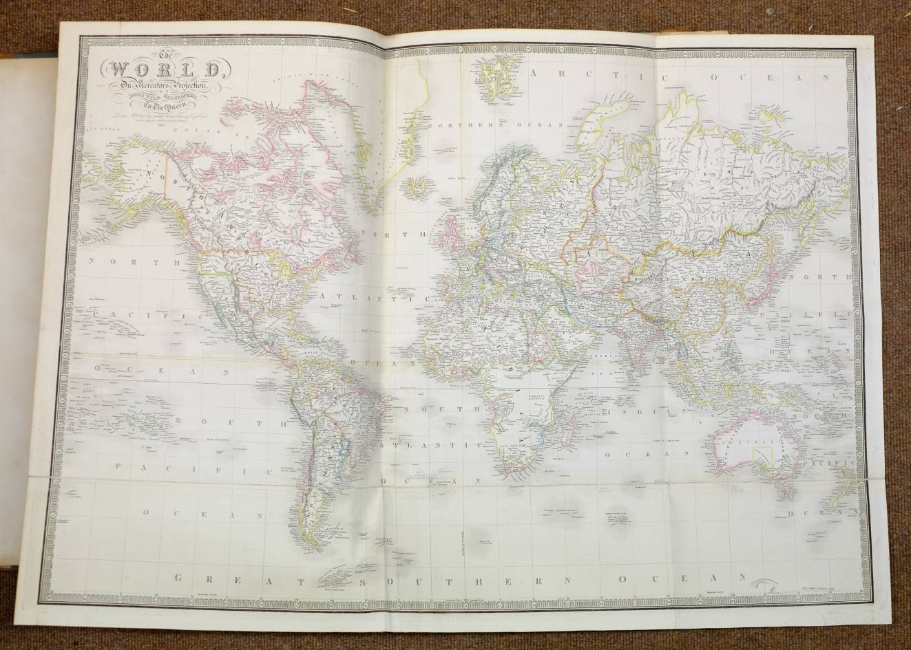 Lot 51 - Wyld (James, publisher). A New General Atlas of Modern geography consisting of a Complete collection