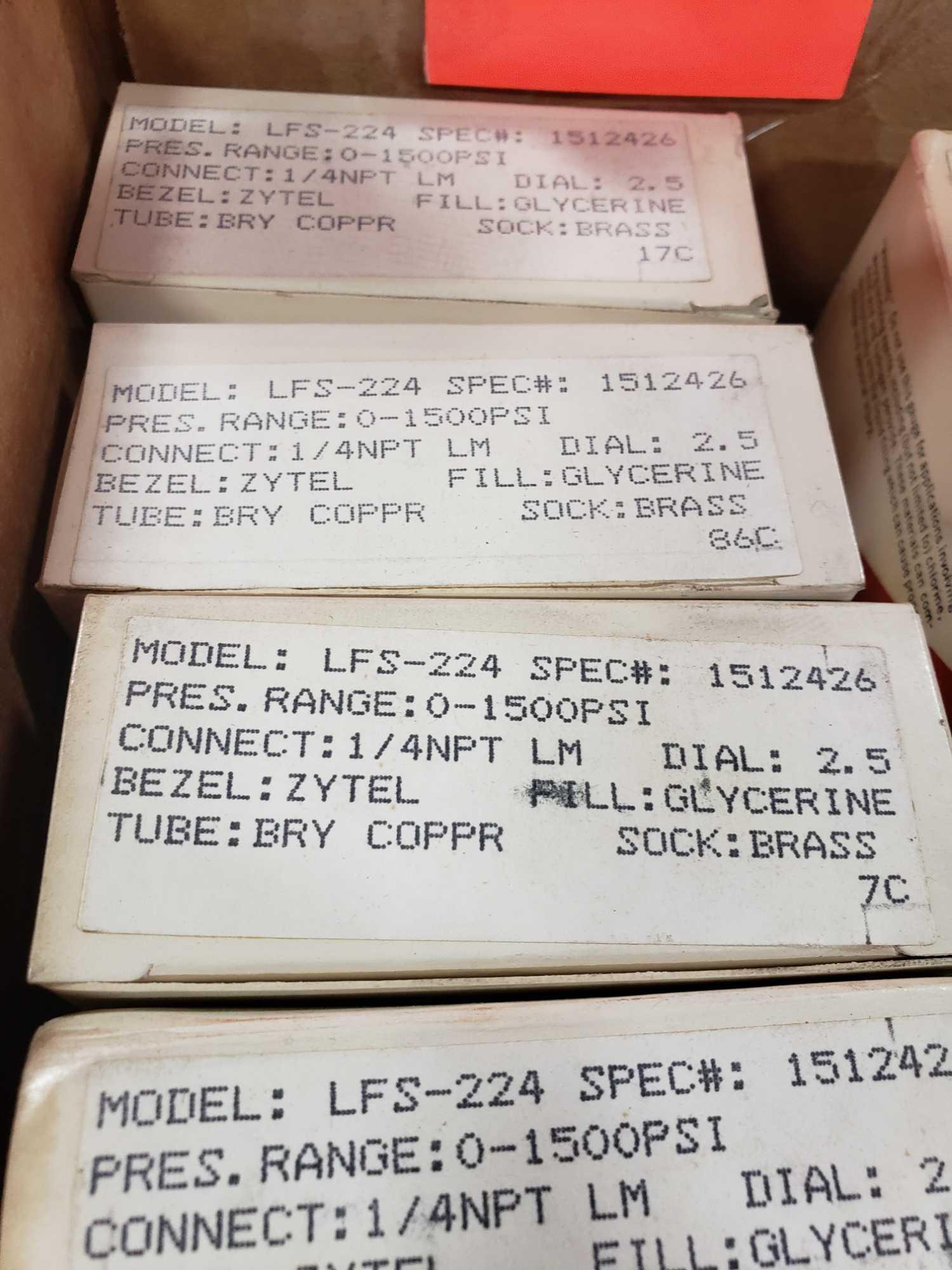 Qty 10 - Span gauges model LFS-224 pressure range 0-1500psi. New in boxes. - Image 2 of 2