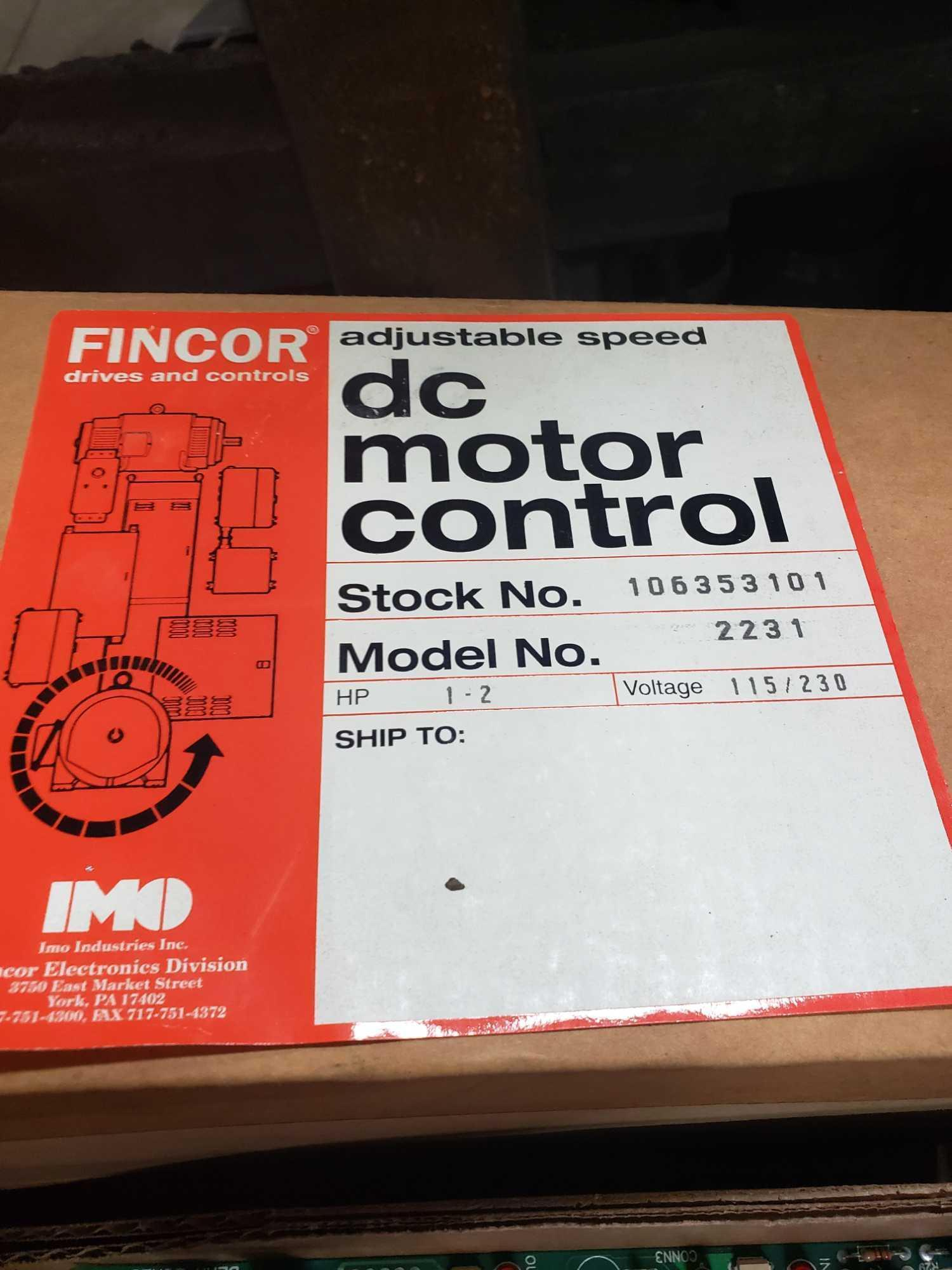 Fincor Drives adjustable speed control DC motor control model 2231. New in box. - Image 2 of 2