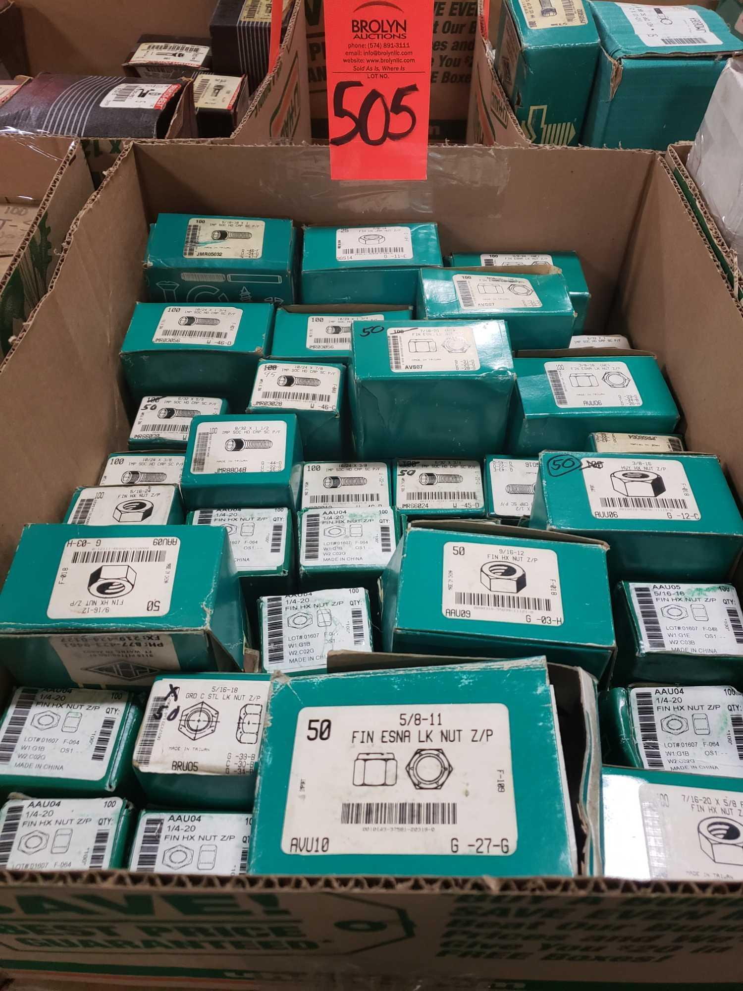 Qty 33 - Assorted boxes of new hardware, high grade, nuts, bolts, washers, etc. New in box.