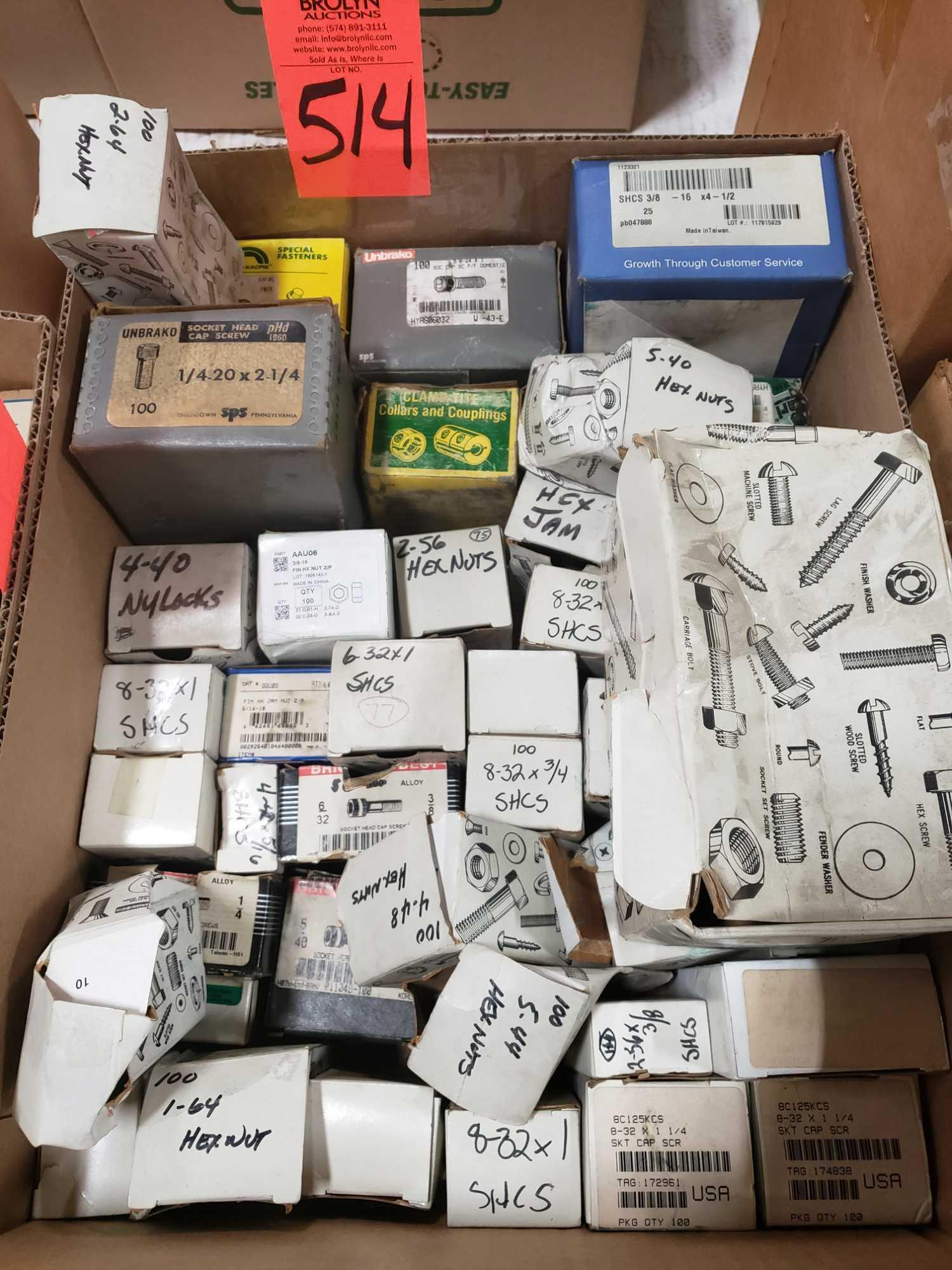 Qty 40 - Assorted boxes of new hardware, high grade, nuts, bolts, washers, etc. New in box. - Image 2 of 2